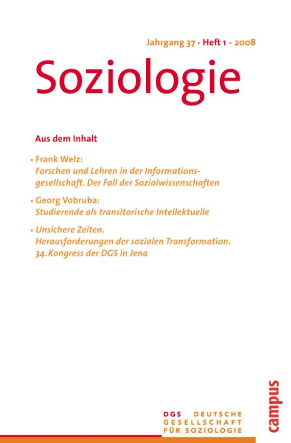 Soziologie · Jg. 37 · Heft 1 · 2008